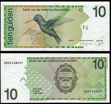 NETHERLANDS ANTILLES 10 GULDEN (P23c) 1994 UNC