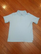 Lands End Small 8 Polo Short Sleeve Shirt Blue boys Top