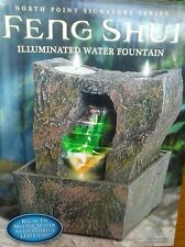 Small Feng Shui Illuminated Water Fountain Table Top Size