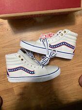 VANS SK8-Hi Leather Shoes Skate/Bmx  Men's US 6.5 Women's 8 USA Flag Colors New