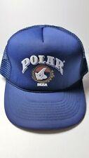 Vintage 90s Venezuelan POLAR BEER Polar Bear Trucker Adjustable SnapBack Hat NEW