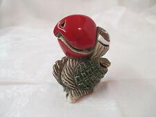 Vintage Artesania Rinconada Pottery red Beak papagayo Bird Toucan #63 signed