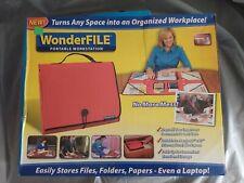 Wonder File Portable Work Stationorganizer Black Mobile Office New Open Box