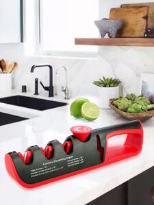 Angle Adjustment Knife Sharpener 4 Stages Kitchen Sharpening Stone Grinder AU
