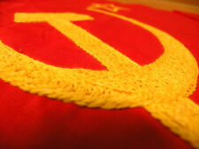 1950s USSR  Soviet Socialist Republic State Cotton Flag with Tag