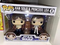 Star Wars Funko Pop! Movies Han Solo & Leia Empire Strikes Back 2 pack