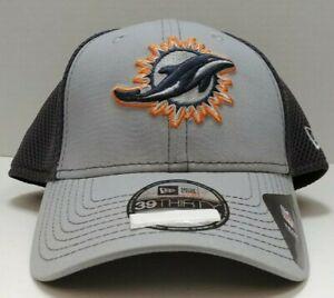 Miami Dolphins New Era 39Thirty Flexfit Grayed Out Hat - Adult Medium / Large