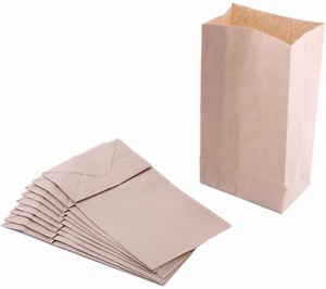 """Extra Small Brown Paper Bags 3 x 2 x 6"""" party favors, Paper Lunch Bags, Grocery"""