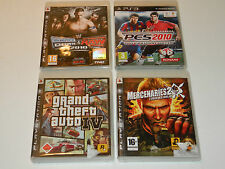 4 JEUX mercenaries 2 PES 2010 smack vs raw 2010 theft auto CONSOLE de JEUX PS3