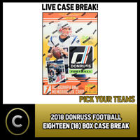 2018 DONRUSS FOOTBALL 18 BOX CASE BREAK #F015 - PICK YOUR TEAM