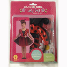 Garden Girl Childs Lady Bug Deluxe Dress Up Halloween Costume Size 4-6 NEW