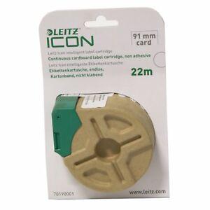 Leitz Icon 70190001 Intelligent Plastic Label Cartridge WHITE 91mm Card x 22m