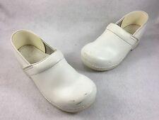 DANSKO Womens White Leather Mary Jane Clogs Size 40 EU / 9.5-10 US EUC
