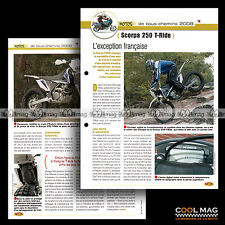 #jbt81.005 ★ SCORPA 250 T-RIDE 2008 ★ Fiche Moto Motorcycle Card