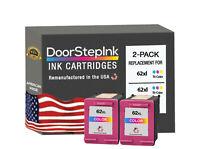 62XL Color 2Pk Ink Cartridges for HP  Printers Envy 5540, 5541, 5542