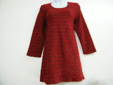 Maglie e camicie da donna maniche a 3/4 rossi con girocollo