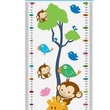 Hot Sale Wall Decal Sticker Cartoon Giraffe Monkeys Growth Height Children Chart