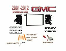 AI 2001-2012 GMC SIERRA SAVANA YUKON 2 DIN CAR STEREO INSTALL DASH KIT, HARNESS