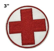 MEDIC Cross EMT Medical First Aid Embroidered Patch Iron Sew-on Tactical Morale