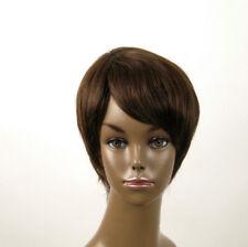 Perruque afro femme 100% cheveux naturel châtain ref JEAN 02/6