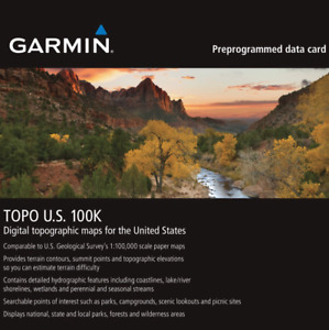 Garmin TOPO U.S. 100K Maps GPS MicroSD Data Card Topographic Full USA Coverage!
