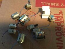 Vintage Lot (10) Mabuchi Re-36 Motors And Others 6Vdc with Terminals