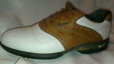 NEW MENS NIKE AIR TOUR TAC SP-6 SADDLE GOLF SHOES (BROWN/WHITE) LEATHER MENS 8.5