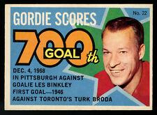 1968-69 OPC O-PEE-CHEE HOCKEY PUCK STICKER~#22~GORDIE HOWE~700th GOAL~(PTS)