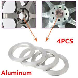 4Pcs Universal 109 to 78.1 Car SUV Wheel Hub Centric Rings Wheel Hubrings Silver