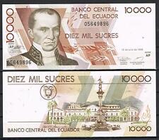 ECUADOR - 10000 SUCRES 1999   Pick # 128      SC  UNC