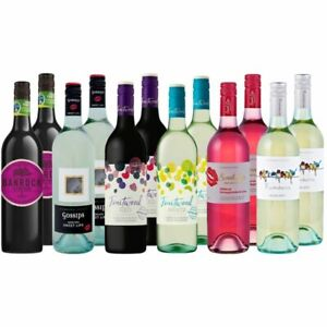 Sweet White And Red Wine Mix Dozen Moscato Case - 12 Bottles