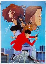 "LUPIN THE 3RD THIRD ORIGINAL JAPANESE POSTER 20 x 29 1/2 "" GOEMON FUJIKO ZENIGAT"