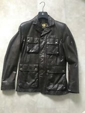 Belstaff Douglas Dark Brown Leather Jacket Blazer Size XL Perfect, Gold Label