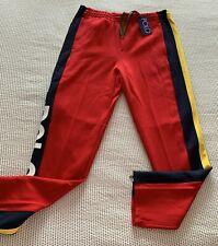 Polo Ralph Lauren Hi Tech Size Large Red Double-Knit Jogger Sweat Pant RARE