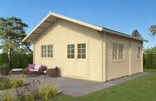 44 mm Gartenhaus ISO + Schlafboden 590x530 cm Ferienhaus Blockhaus Holzhaus Holz