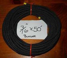 "3/16"" x 50' JET BLACK -  MFP Cover Bungee / Shock Cord / Made USA Free Shippng!"