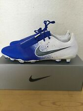 NIKE PHANTOM VENOM ELITE FG ( BLUE/WHITE ) SOCCER CLEATS SIZE 10.5 (AO7540-105)