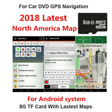 Universal 8GB Map SD Card For Android system Car GPS Canada Mexico North America