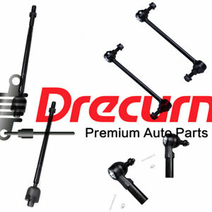 6PC Front Suspension Tie Rod Sway Bar Kit For Saturn L100 L200 LS1 LW1 LW2 LW300