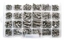 StainlessTown Stainless Steel Hex Head Bolt Master Kit Asst 475Pc + Free Gauge