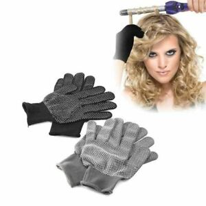Heat Resistant Glove Hair Styling Tool For Curling Straight Flat Iron Black Heat