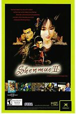 Vtg. original 2002 XBOX Sega SHENMUE II 2  video game print ad page