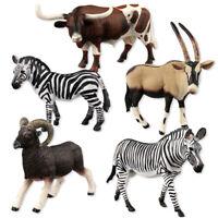 FJ- NE_ SIMULATION WILDLIFE ZOO ZEBRA FARM ANIMAL DINOSAUR MODEL FIGURE KIDS TOY