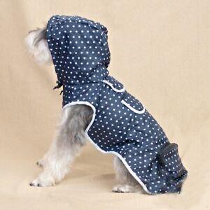 SALE £8.99 Now £5.00 !! Pet Blue Spotty Rain Coat Size Small