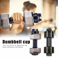 Gym Sports PET Dumbbell Shaped Kettle Outdoor Fitness Cycling Water Bottle Cup