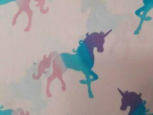 4 Piece Full Sheet Set Unicorns Girls Multicolored Unicorns Pink Wonder Studio