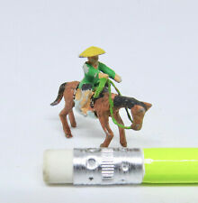 Dollhouse Miniature 1:12  Metal Asian Horse and Rider Figure