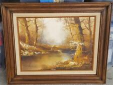 Beautiful Vintage Original Silvana Oil Painting - With COA WOODS Serial Numbered