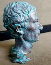 Ancient Roman Republic / Empire Julius Caesar Cold Casting Antique Copper Bust