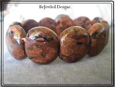 Gemstone Goldstone Stretch Bracelet